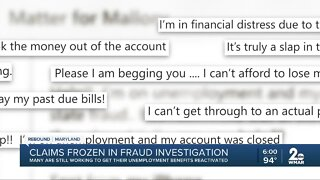 Claims frozen in fraud investigation