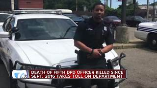 Detroit police department in mourning over officer death