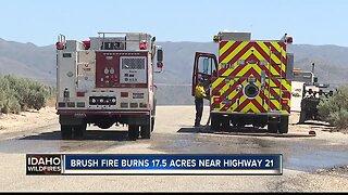 Brush fire burns 17 acres in SE Boise
