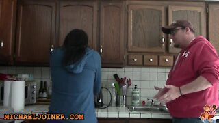 Comedian demonstrates how to confess to your wife