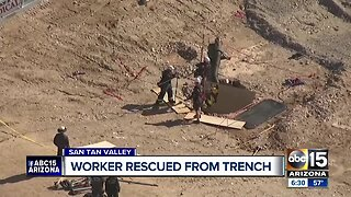 Worker rescued from trench in San Tan Valley