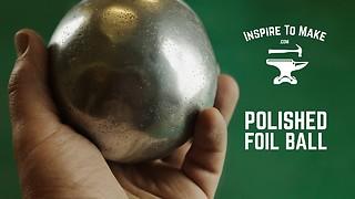 DIY challenge: Polished aluminium foil ball
