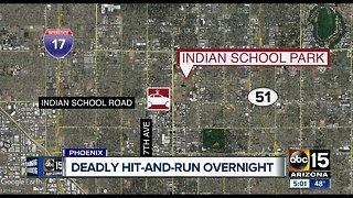 Pedestrian struck and killed Saturday night in Phoenix