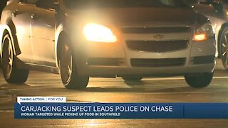 Carjacking suspect leads police on chase