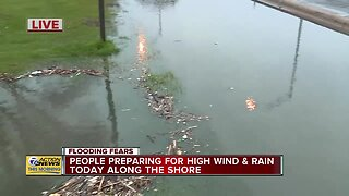Water pooling in parking lots in Michigan as flooding concerns continue