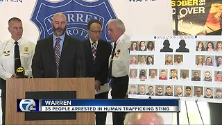35 people arrested in human trafficking sting