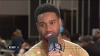 Darius Slay talks contract hopes, Patricia's impact - at Super Bowl