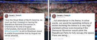 President Trump threatens to pull RNC out of North Carolina