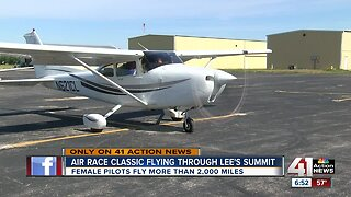 Air Race Classic flying through Lee's Summit