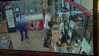 Surveillance video shows store clerk shooting wrong man over a bag of chips