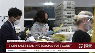 Biden takes the lead in Georgia