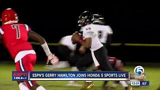 Gerry Hamilton joins Paxton Boyd on Honda Five Sports Live