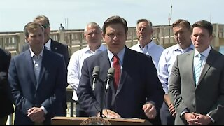 Florida Ron Gov. DeSantis speaks about disaster relief in Panama City Beach
