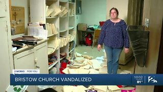 Bristow Church vandalized
