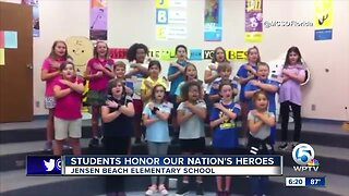 Jensen Beach Elementary students honor our nation's heroes