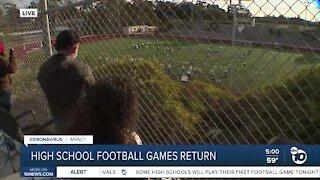 San Diego County resume high school football games