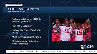 Information on Sunday's Chiefs game
