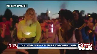Local artist raising awareness for domestic abuse