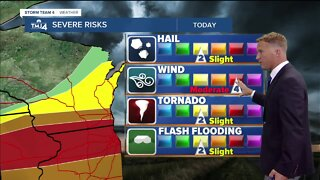 Severe storms likely Monday afternoon