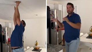Man falls victim to hilarious 'James Brown' shouting prank