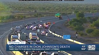 Family reacts after county attorney decides not to charge trooper in death of Dion Johnson