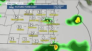 Rain moves in tonight