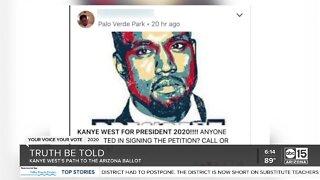Kanye's path to the Arizona ballot