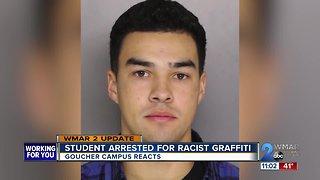 Goucher student arrested for racist graffiti