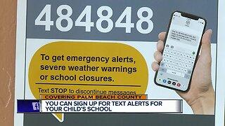 Palm Beach County high schools launch text alert system
