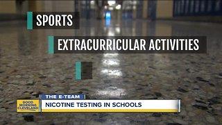 Nicotine testing more common in area schools