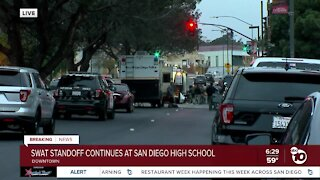 Chase leads to standoff at San Diego High School