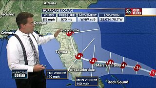 Tracking Dorian: 'Extremely dangerous' Hurricane Dorian heading for the Bahamas as category 3 storm