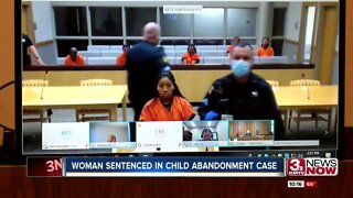 Woman sentenced in child abandonment case