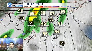 Rain Arrives Sunday, Chilly Weather Returns