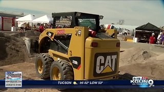 Students learn about the construction industry