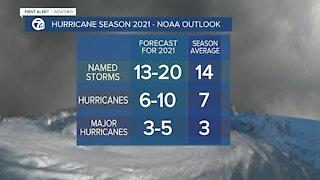 7 First Alert Forecast 5 p.m. Hurricane Season