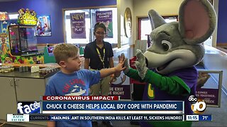 Chuck E Cheese helps local boy cope with pandemic