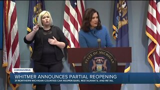 Whitmer announces partial reopening of Northern Michigan & U.P. – including bars and restaurants