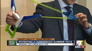 Beware dangerous summer toys