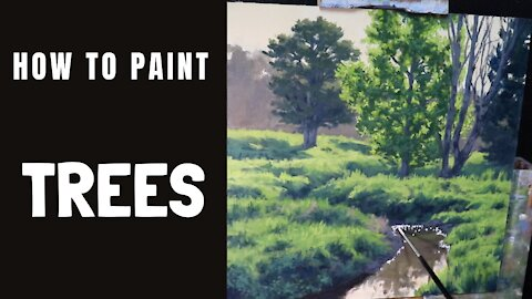 How to Paint TREES - Tips For Painting Sunlit Translucent Leaves