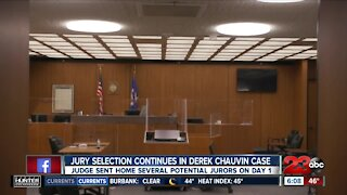 Jury selection continues in Derek Chauvin case, judge sent home several potential jurors on Day 1