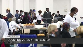 Counting votes at Detroit's TCF Center