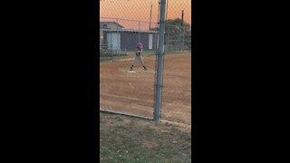 Softball hitting practice