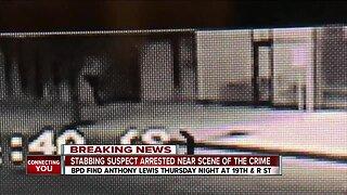 Stabbing suspect arrested near scene of the crime