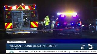 Woman found dead in street