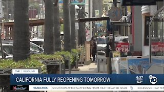 State to fully reopen on Tuesday