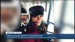 $25,000 cash reward offered for tips leading to arrest in murder of Egypt Covington