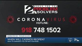 Problem Solvers Coronavirus Hotline: When will casinos reopen?
