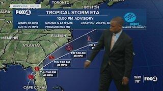 Tropical Storm Eta Update 11/11/20 10 PM