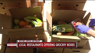 Local restaurants offering produce along with carry-out orders